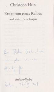 Hein, Christoph. Exekution eines Kalbes und andere Erzählungen.