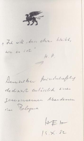 Holthusen, Hans Egon. Sartre in Stammheim.