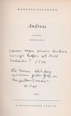 Hausmann, Manfred. Andreas.