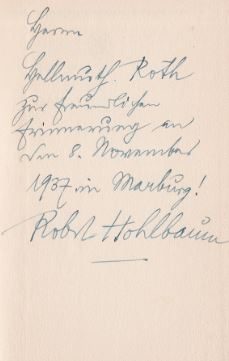 Hohlbaum, Robert. Getrennt marschieren.