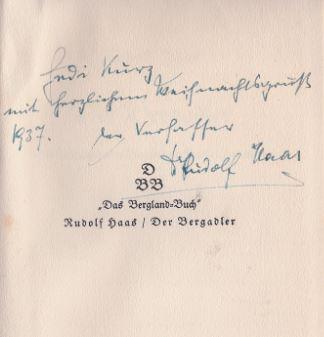 Haas, Rudolf. Der Bergadler.