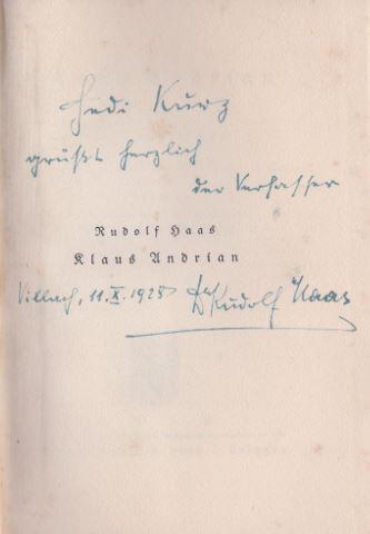 Haas, Rudolf. Klaus Andrian.