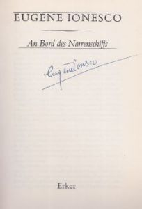 Ionesco, Eugène. An Bord des Narrenschiffs.