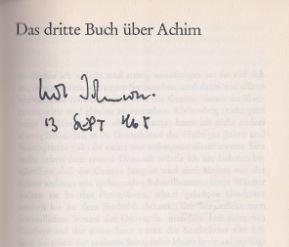Johnson, Uwe. Das dritte Buch über Achim.