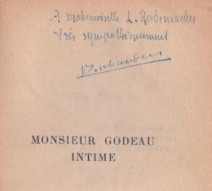 Jouhandeau, Marcel. Monsieur Godeau intime.
