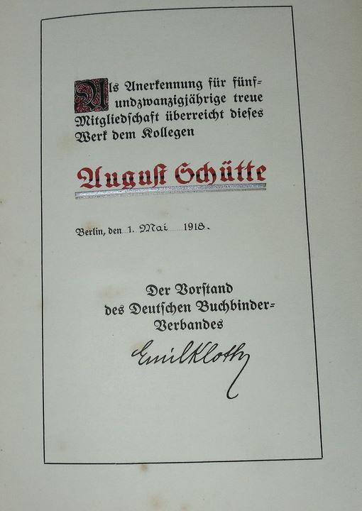 Kloth, Emil. Geschichte des Deutschen Buchbinderverbandes