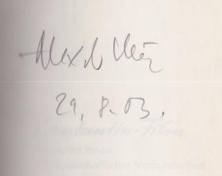 """Kluge, Alexander. Alexandra Kluge in Alexander Kluges """"Abschied von gestern""""."""