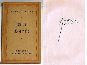 Kerr, Alfred. Die Harfe.