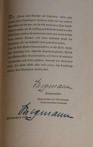 Neumann, Paul (Hrsg.) und Paul (Illustrator) Helms. Lieder und Sprüche auf Hamburg.