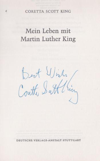 King, Coretta Scott. Mein Leben mit Martin Luther King.