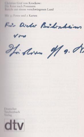 Krockow, Christian von. Die Reise nach Pommern.