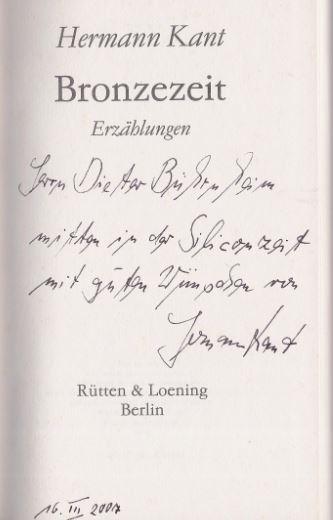 Kant, Hermann. Bronzezeit