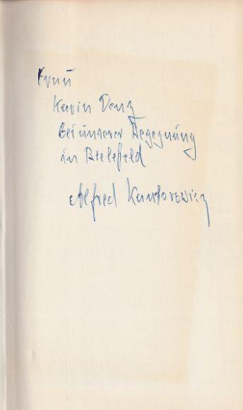 Kantorowicz, Alfred. Im 2. Drittel unseres Jahrhunderts.