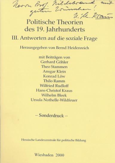 Kraus, Hans-Christof. Politische Theorien des 19. Jahrhunderts.
