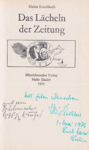 Knobloch, Heinz. Das Lächeln der Zeitung.