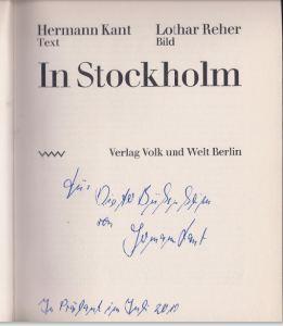 Kant, Hermann und Lothar Reher. In Stockholm.
