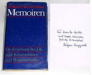 Kuczynski, Jürgen. Memoiren.