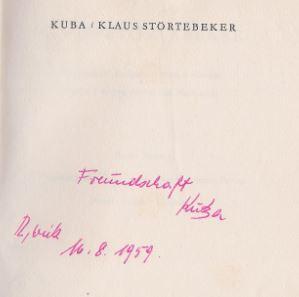 Kuba, d.i. Kurt Barthel. Klaus Störtebeker.