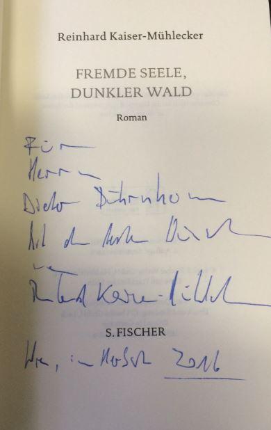 Kaiser-Mühlecker, Reinhard. Fremde Seele, dunkler Wald.