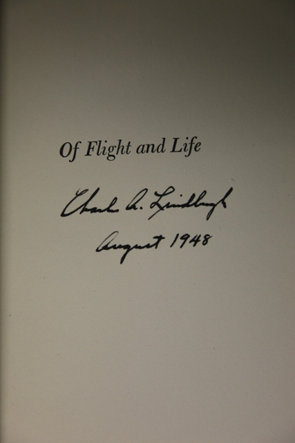 Lindbergh, Charles A. Of Flight and Life.