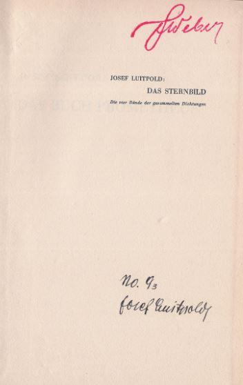 Luitpold, Josef. Das Buch Prometheus.