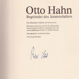 Lüst, Reimar [Mitarb.] und Dietrich [Hrsg.] Hahn. Otto Hahn.
