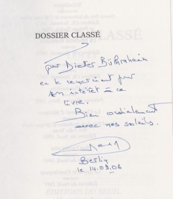 Lopes, Henri. Dossier classé.