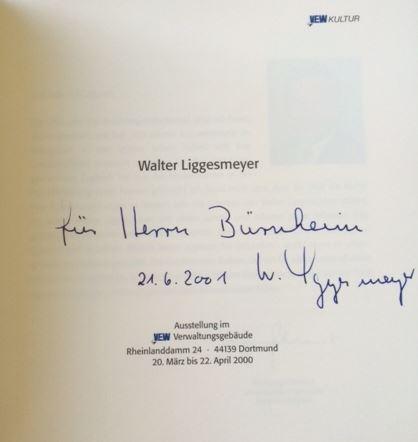 Liggesmeyer, Walter. Ausstellung im VEW Verwaltungsgebäude, Dortmund.