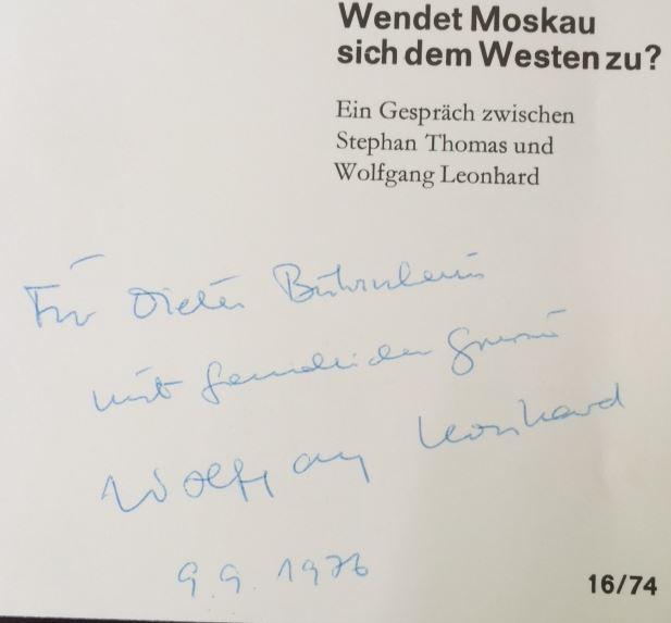 Leonhard, Wolfgang und Stephan Thomas. Wendet Moskau sich dem Westen zu ?