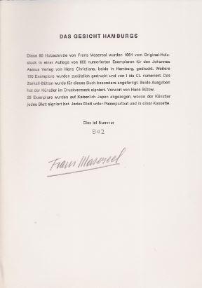 Masereel, Frans. Das Gesicht Hamburgs.