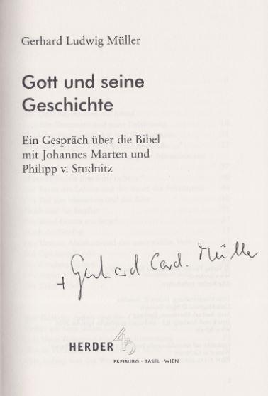 Müller, Gerhard Ludwig. Gott und seine Geschichte
