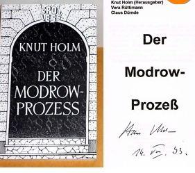 Holm, Knut, Vera Rüttimann und Claus Dümde. Der Modrow-Prozess.