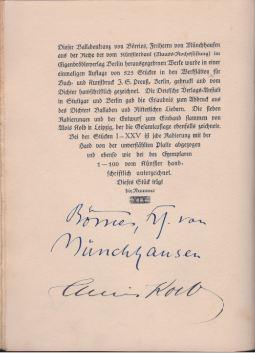 Münchhausen, Börries, Freiherr von. Bayard.