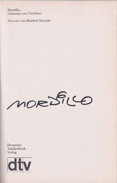 Mordillo, Guillermo. Cartoons zum Verlieben.