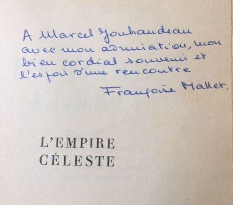 Mallet-Joris, Francoise. L`empire céleste.