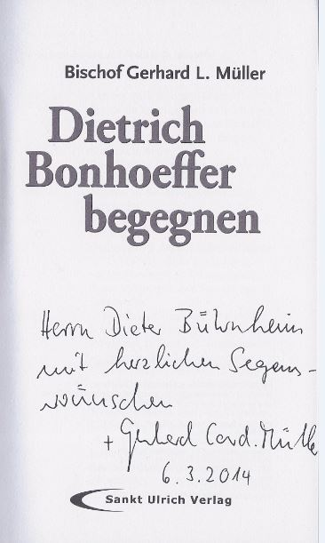 Müller, Gerhard L. Dietrich Bonhoeffer begegnen