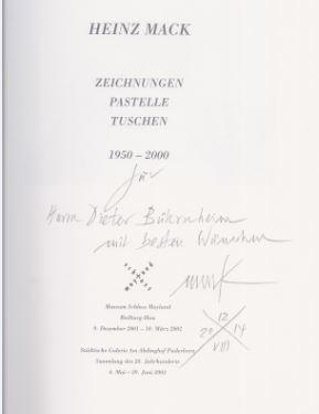 Finkeldey, Bernd. Mack - Zeichnungen - Pastelle - Tuschen 1950-2000.