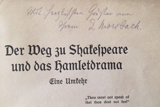 Morsbach, Lorenz. Der Weg zu Shakespeare und das Hamletdrama.