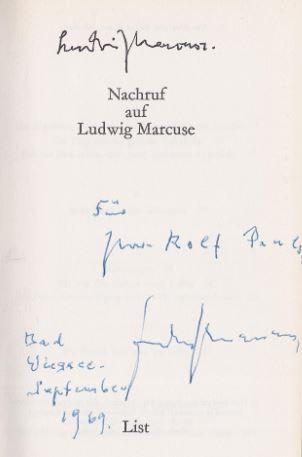 Marcuse, Ludwig. Nachruf auf Ludwig Marcuse.