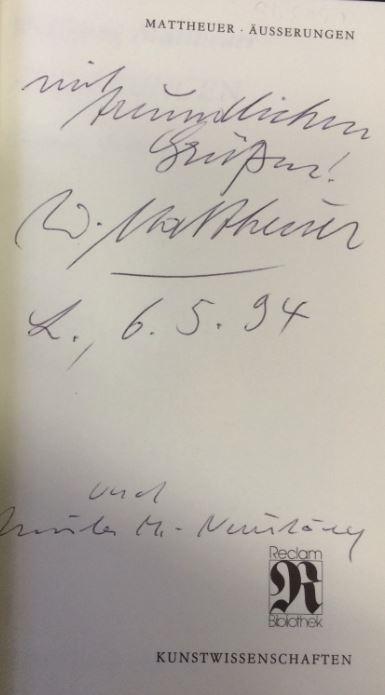 Mattheuer, Wolfgang. Äusserungen