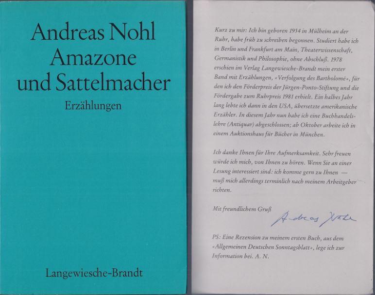 Nohl, Andreas. Amazone und Sattelmacher.