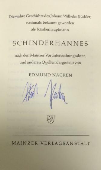 Nacken, Edmund. Schinderhannes.