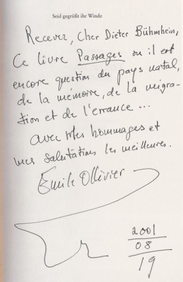 Ollivier, Émile. Seid gegrüßt ihr Winde.