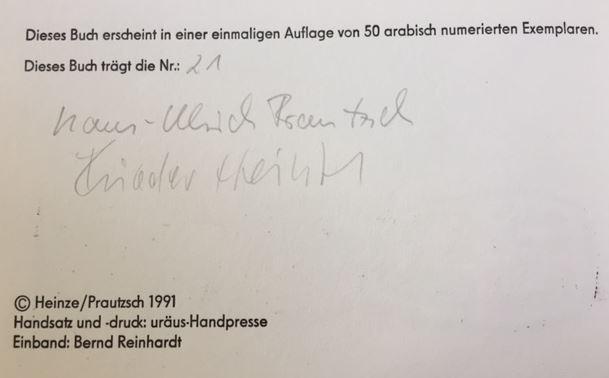 Prautzsch, Hans-Ulrich. Terra Inkognita.