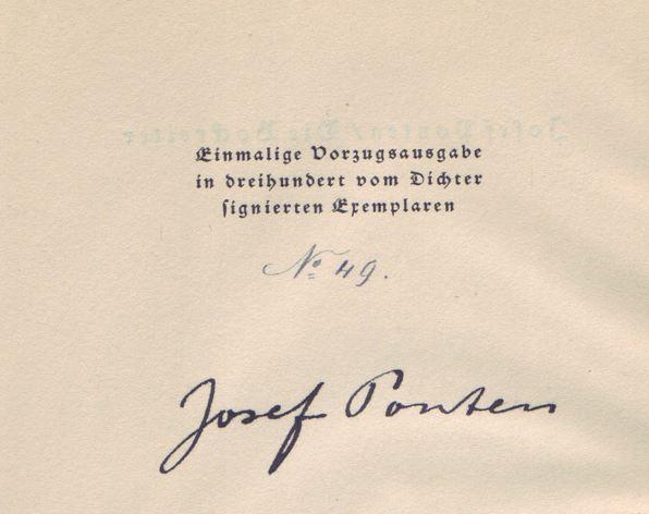Ponten, Josef. Die Bockreiter.