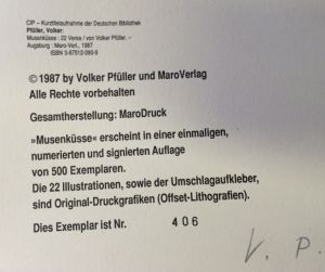 Pfüller, Volker. Musenküsse.
