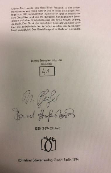 Bürger, Gottfried A, Bernd (Hrsg.) Hofestädt und Uwe Pfeiffer. Hurra! die Toten reiten schnell!