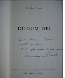 Pinsk, Johannes. Donum Dei.