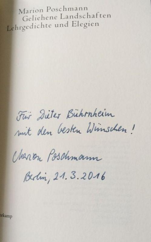 Poschmann, Marion. Geliehene Landschaften.