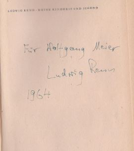 Renn, Ludwig. Meine Kindheit und Jugend.